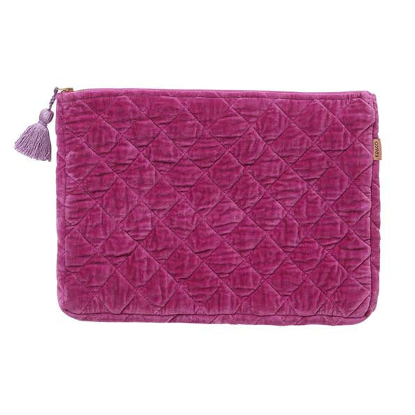 Passionfruit Velvet Quilted Laptop/Carry-All Case