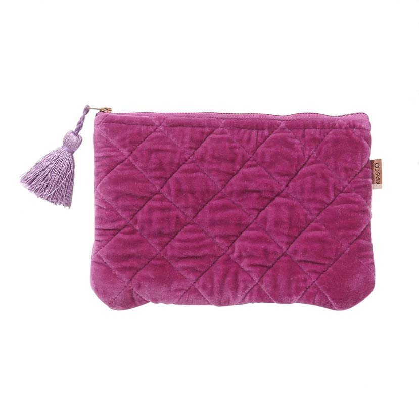 Passionfruit Velvet Cosmetic Purse