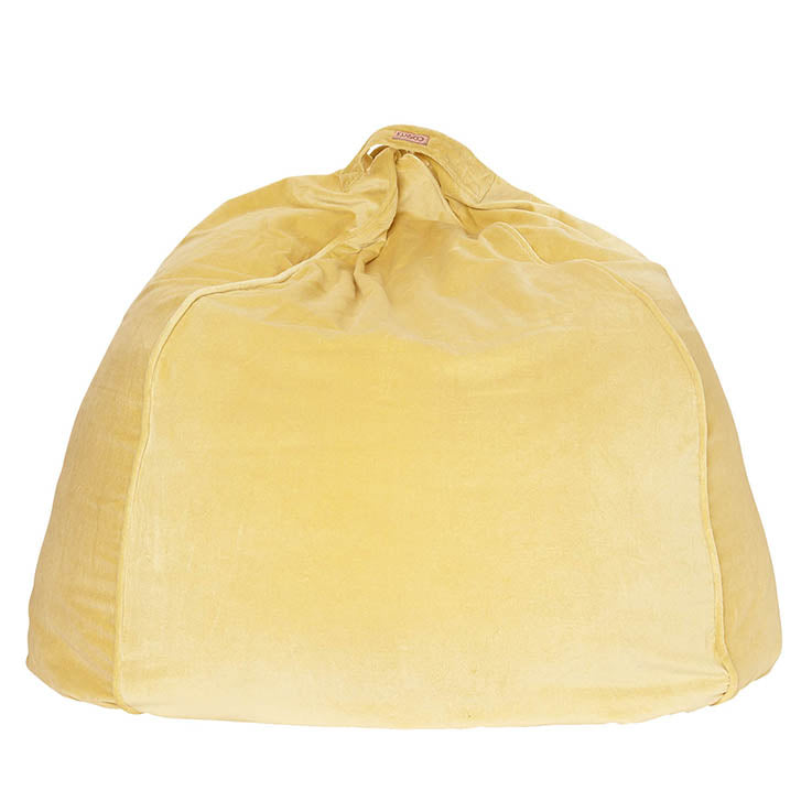 Sundress Yellow Velvet Beanbag