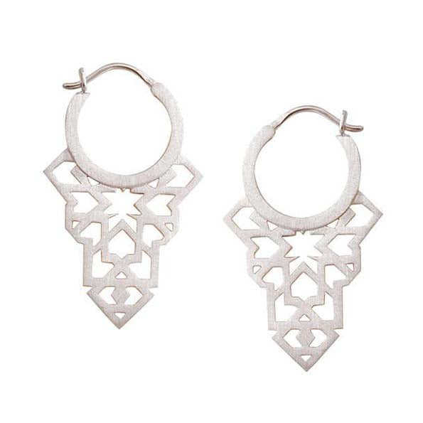 Linda Tahija Seventh Star Silver Earrings