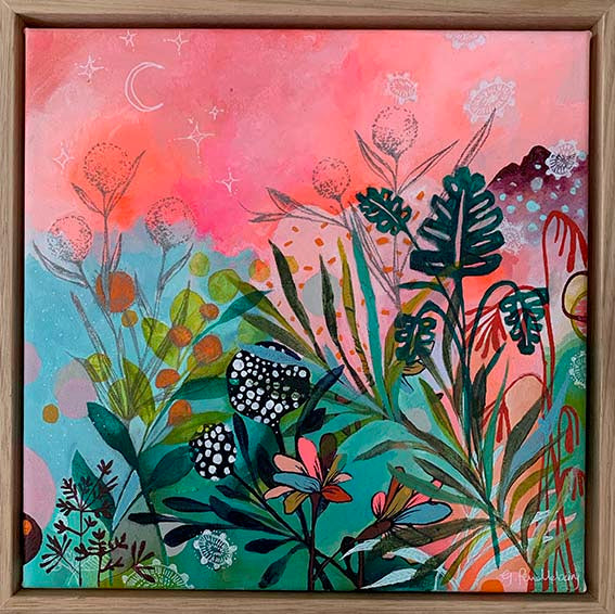 'Strawberry Fields' Acrylic on Canvas - Framed