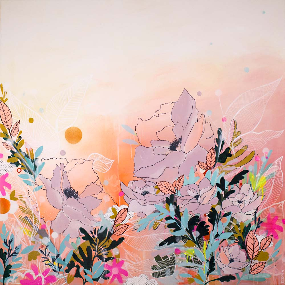 The Garden at Sunset Print by Georgia Pendlebury