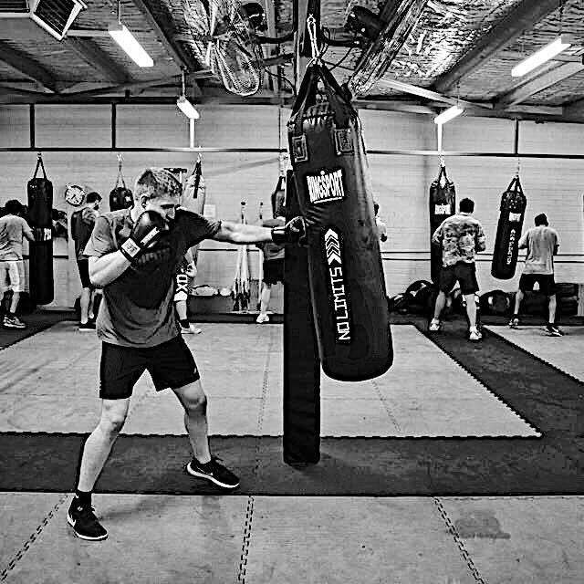 Premier boxing gym punching bag training