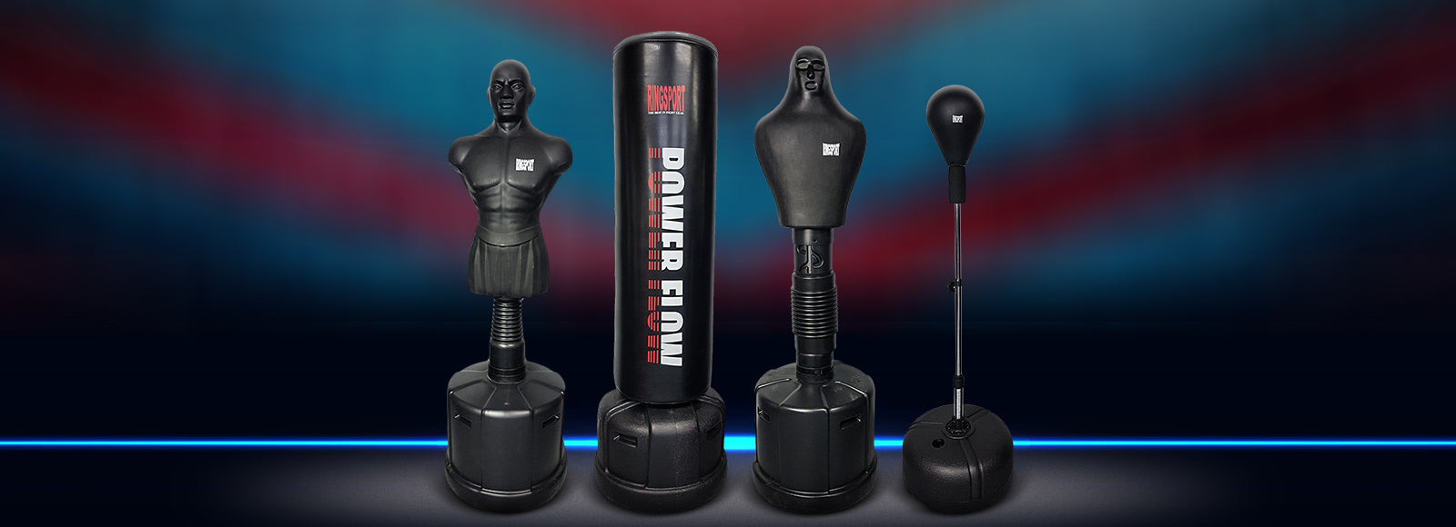 Free standing punching bags and boxing gear