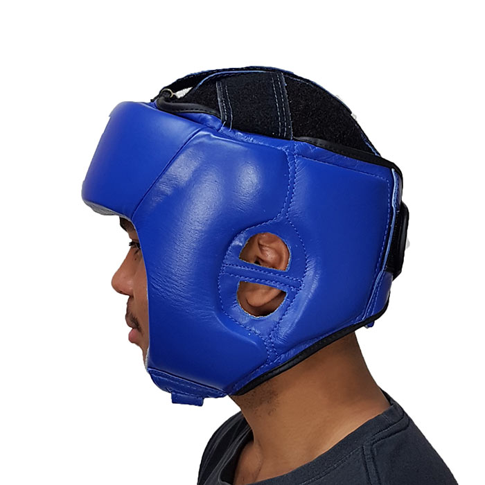 Open face boxing head guards