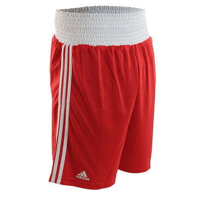 Adidas boxing shorts red