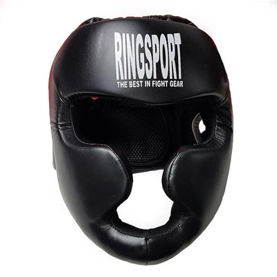 Ads leather head guard front
