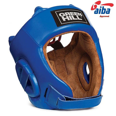 Greenhill aiba head guard blue