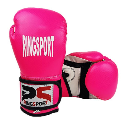 Kids boxing gloves pink