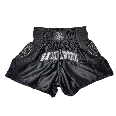 Air Muay Thai shorts black silver