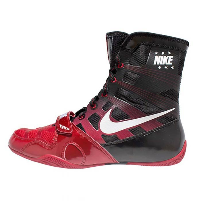 Nike hyperko boxing boot black / red