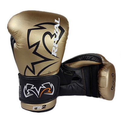 Rival RS11V boxing gloves gold