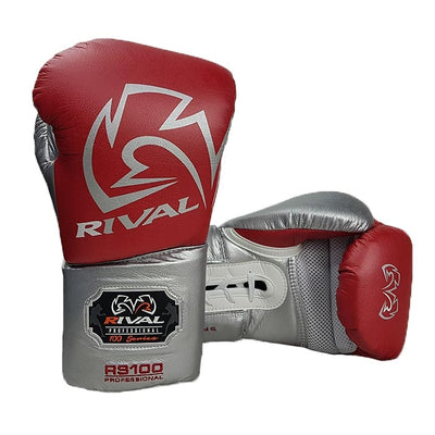 Rival RS100 boxing gloves red