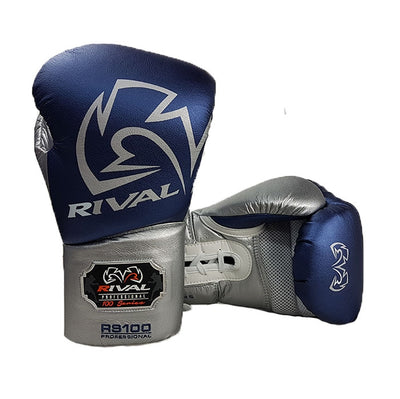 Rival RS100 boxing gloves blue