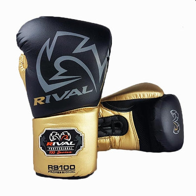 Rival RS100 boxing gloves gold