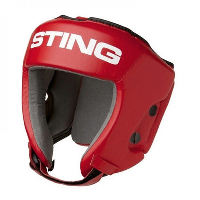 Sting AIBA approved boxing head guard Red