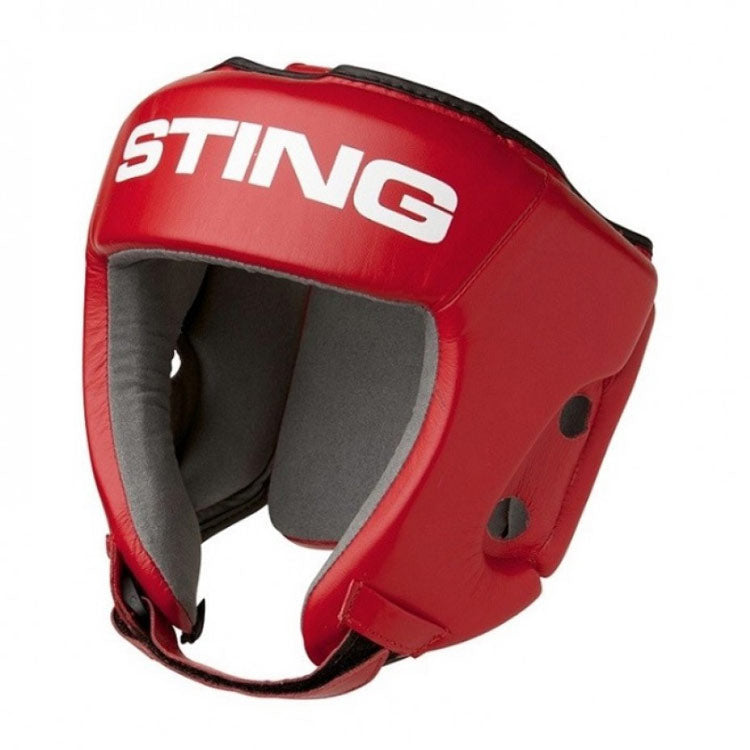 Sting AIBA approved boxing head guard Blue