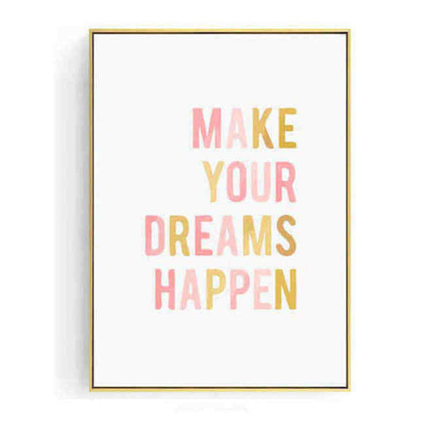 Malen nach Zahlen Make your dreams happen