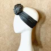 Haya Head Scarf Grey/Green