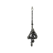 AMEERA LARGE PEARLISED DARK SILVER EARRINGS