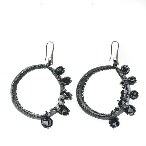 BELLA LARGE SPIKED EARRINGS