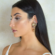 DAHLIA STUD SINGLE EARRING