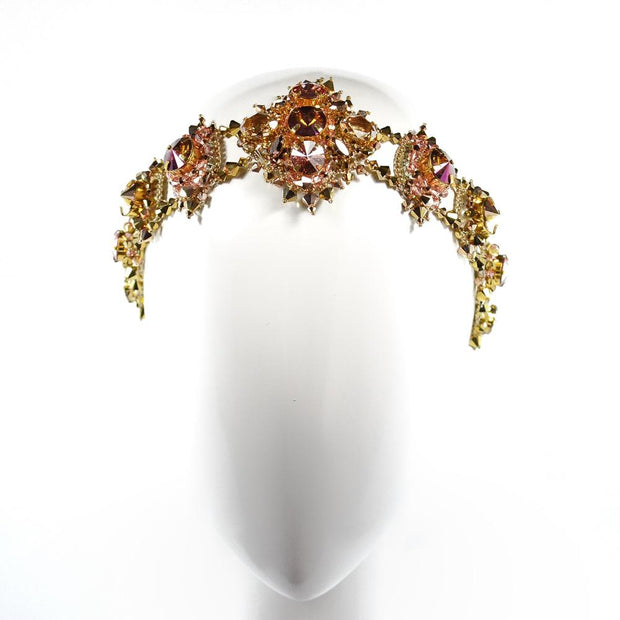 KAYLA HEADPIECE GOLD ROSE