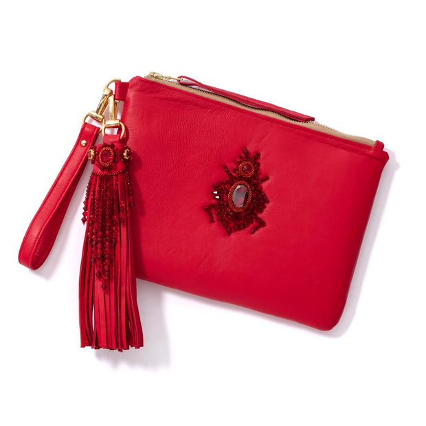 SCARAB CLUTCH RED