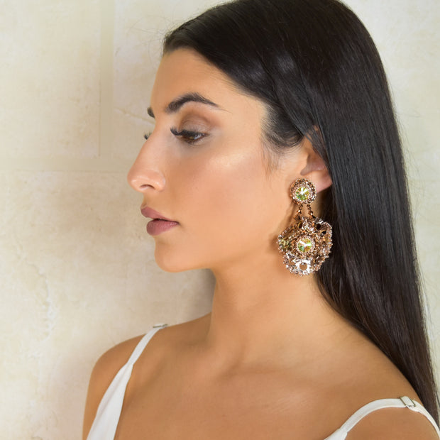 ZAHRA MEDIUM ROSE GOLD EARRINGS