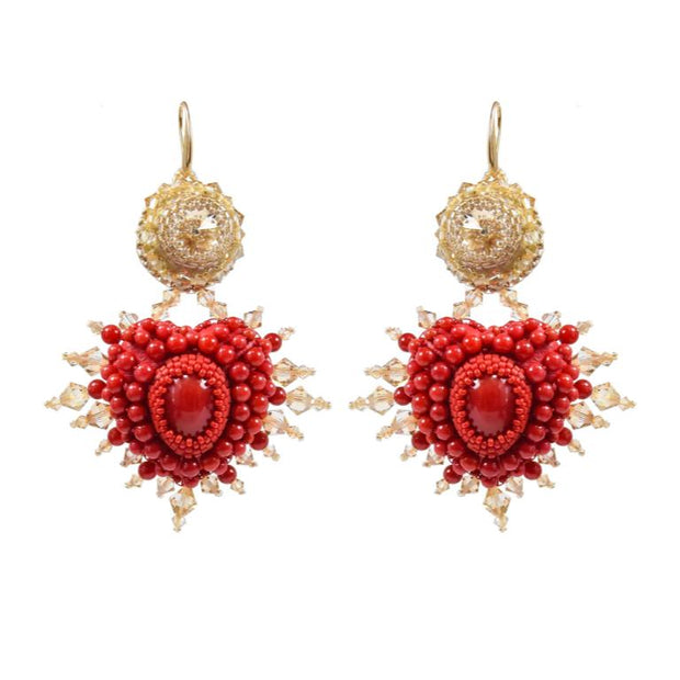 L'AMOUR + LOVE AMULET EARRINGS