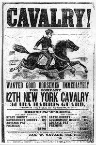 12th New York Cavalry Recruiting Poster