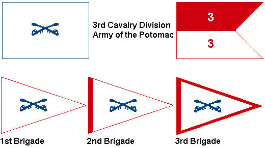 3rd Cavalry Division Army of the Potomac Flag and Guidon System - CavHooah.com