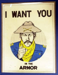 I want you in the armor - Recruiting Poster - CavHooah.com
