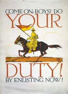 Do your duty by enlisting now - recruiting poster - CavHooah.com