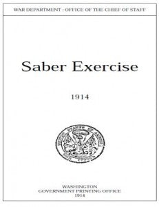 saber exercise 1914 - By George Patton - CavHooah.com