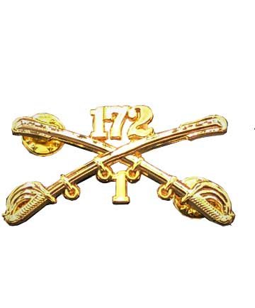 1-172 Cavalry Regimental Crossed Sabers Large