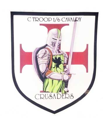 C Troop Crusaders Vinyl Sticker
