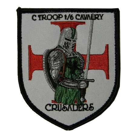 C Troop, 1-6 Cavalry Crusaders Patch