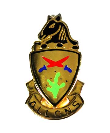 "11th Armored Cavalry Regiment Distinctive Unit Insignia DUI ""ALLONS"""