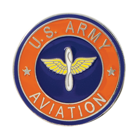 U.S. Army Aviation Round Pin