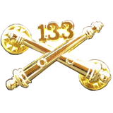 133 Field Artillery Crossed Cannons Standard