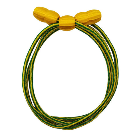 Hat Cord - Green/yellow with Yellow Acorn Military Police