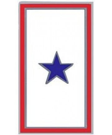 Blue One Star Service Pin