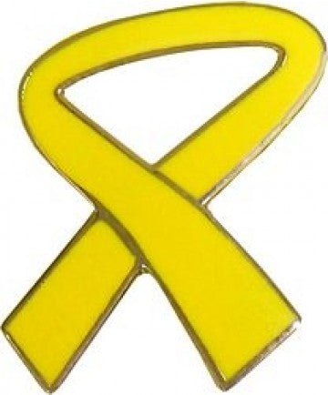 Yellow Ribbon Pin 7/8""