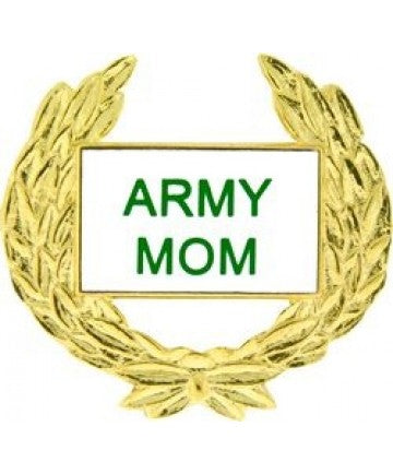 Army Mom Pin with Gold Wreath