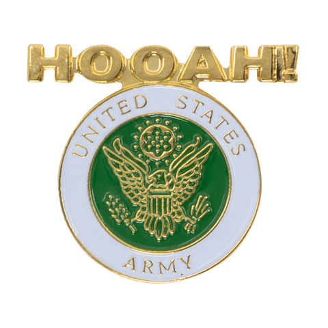 United States Hooah Army Pin