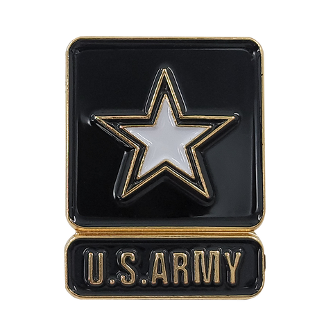 United States Army with Star Insignia Pin