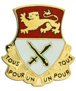"15th Cavalry Distinctive Unit Insignia DUI ""UN POUR TOUS"""