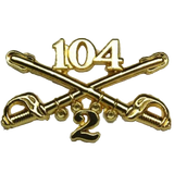 2-104 Cavalry Regimental Crossed Sabers Standard