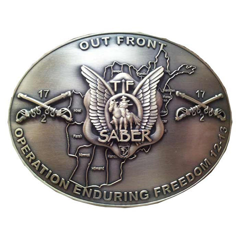 2-17 Custom TF Saber OEF 12-13 Belt Buckle